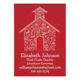 Schoolhouse Teachers Business Card RED