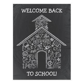 Schoolhouse Teachers Postcard