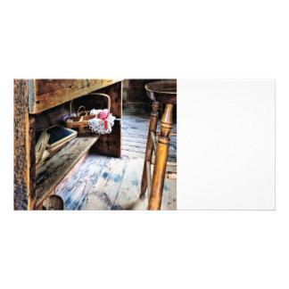 Schoolmarm's Desk Custom Photo Card
