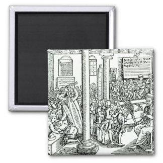 Schoolroom scene in Tudor times Magnet