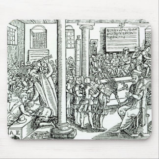 Schoolroom scene in Tudor times Mouse Mat
