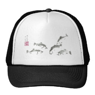 Schools In - Sumi-e Salmon Mesh Hats
