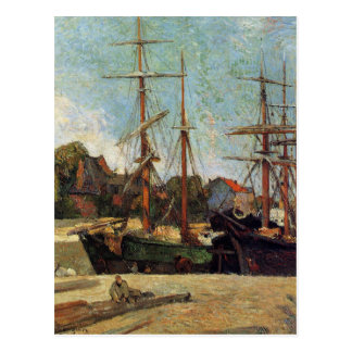 Schooner and three masters by Paul Gauguin Postcard