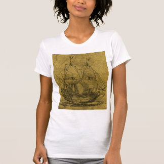 Schooner And Vintage Map Tshirts