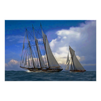 schooner and yacht poster