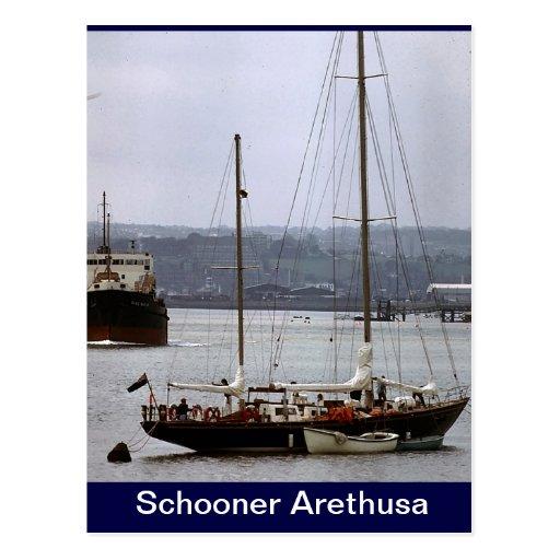 Schooner Arethusa Post Cards