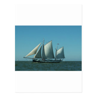 Schooner at Sea Postcard