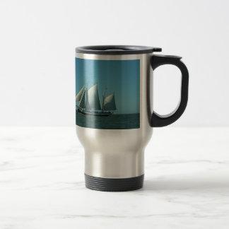 Schooner at Sea Travel Mug
