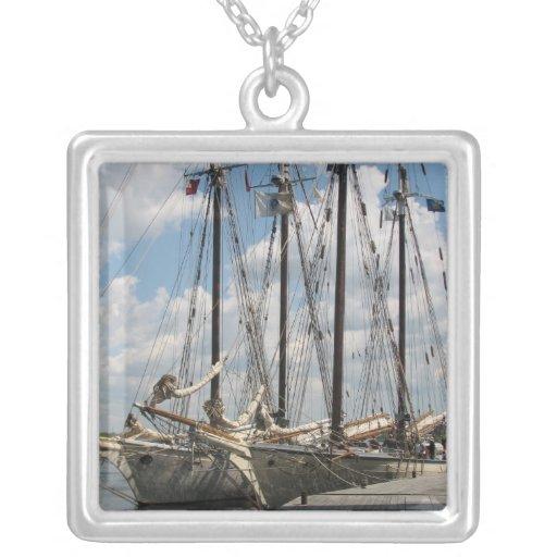 Schooner Boat Necklace
