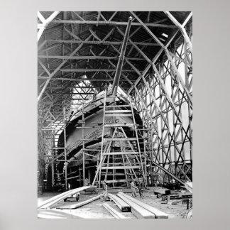 Schooner Construction Poster