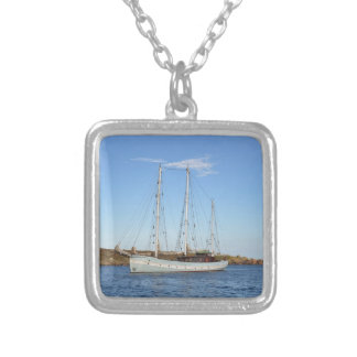 Schooner In The Isles Of Scilly Silver Plated Necklace