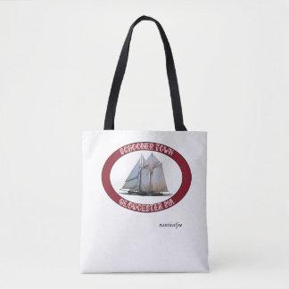 schooner nautical tote bag