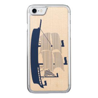 Schooner Navy Carved iPhone 8/7 Case