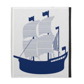 Schooner Navy iPad Folio Case