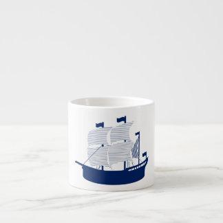 Schooner Navy Espresso Mug