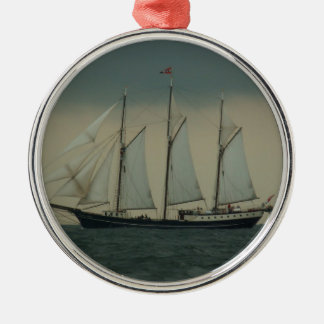 Schooner off the Dutch coast Christmas Ornament
