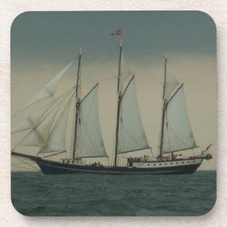 Schooner off the Dutch coast Coaster