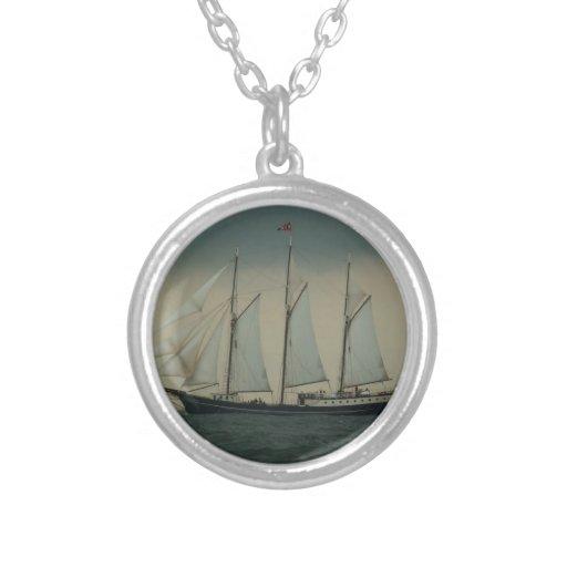 Schooner off the Dutch coast Necklace