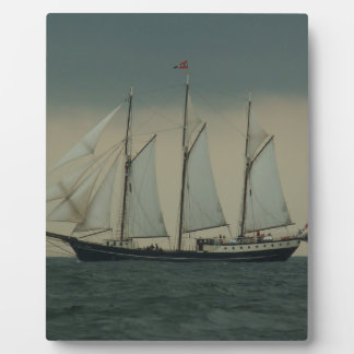 Schooner off the Dutch coast Plaque