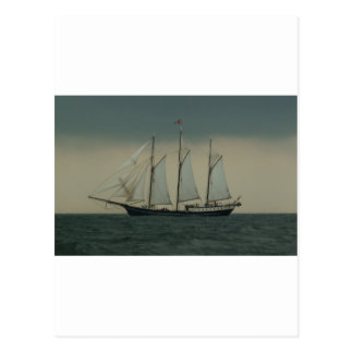 Schooner off the Dutch coast Postcard
