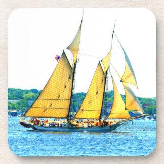 Schooner sailing nautical coaster