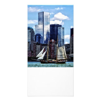 Schooner Seen From Liberty State Park Picture Card