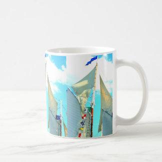 schooner topsails coffee mug