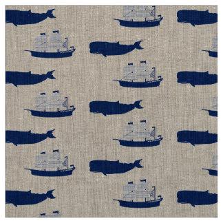 Schooner & Whale Fabric