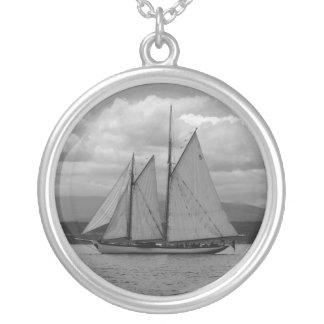 Schooner Zodiac Silver Plated Necklace