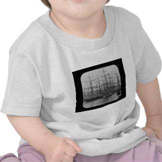 Schooners in Port Magic Lantern Slide B W Shirts