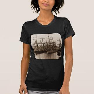 Schooners in Port Magic Lantern Slide T-Shirt