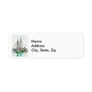 Schooners Return Address Label