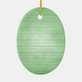 SCHPPR GREEN SCHOOL LINED PAPER EDUCATION BACKGROU CHRISTMAS TREE ORNAMENTS