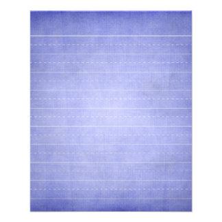 SCHPPR OCEAN BLUE RULED SCHOOL LINED PAPER EDUCATI FLYER DESIGN