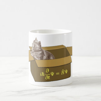 Schrodinger cat box coffee mug