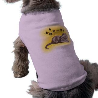 Schrodinger cat sleeveless dog shirt