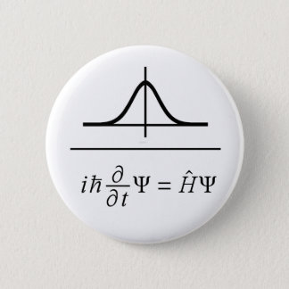 Schrödinger Equation 6 Cm Round Badge