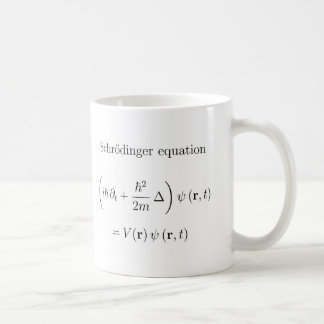Schrodinger equation with name coffee mug