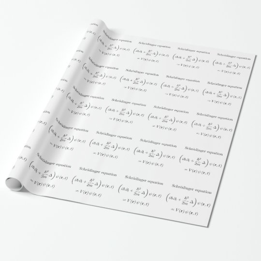 Schrodinger equation with name wrapping paper