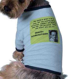 schrodinger quote pet clothing
