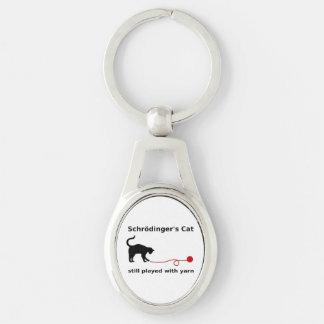 Schrödinger's Cat Still Played With Yarn Keychain
