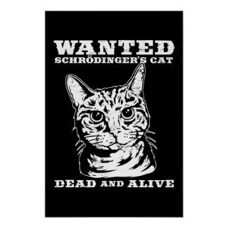 Schrodinger s cat wanted dead or alive print