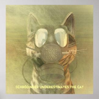Schrödinger underestimates the cat poster