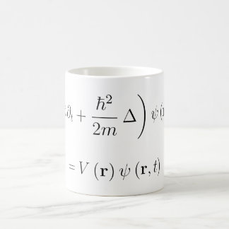 Schrodinger wave equation coffee mug