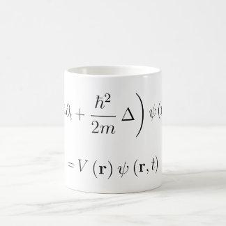 Schrodinger wave equation coffee mug