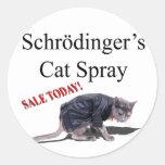 Schrodingercat Round Sticker