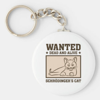 Schrodinger's Cat Basic Round Button Key Ring