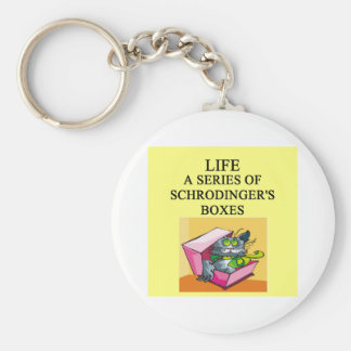 schrodinger's cat box joke keychain