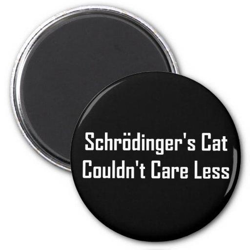 Schrodinger's Cat Couldn't Care Less 6 Cm Round Magnet