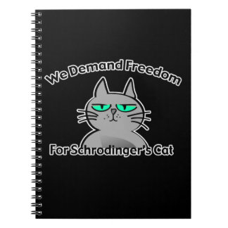 Schrodinger's Cat Funny Geek Humor Note Book